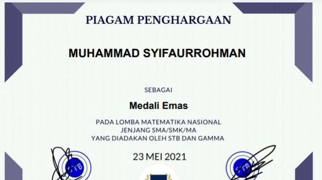 M. Syifaurrohman XI IPA 1